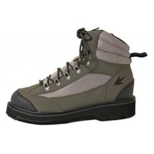 Frogg Toggs Hellbender Felt Sole Wading Shoe, 11W, Green/Silver by Frogg Toggs