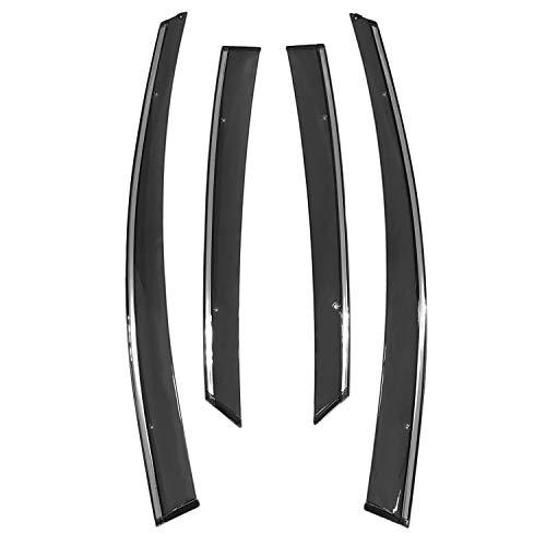 (biosp Vent Visor For Ford Focus 2012 2013 2014 2015 2016 2017 2018 Rain Sun Shade Window Deflectors Shield Wind Guard Side-Custom Fit 4 Pcs Set Smoke Gray)