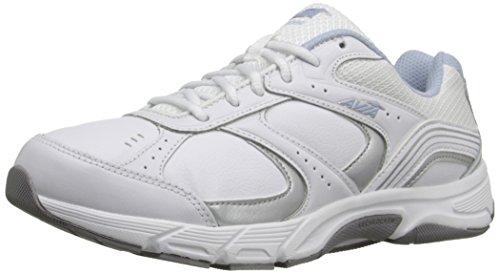 AVIA Womens Avi-Nomad Walking Shoe White/Chrome Silver/Skyway Blue