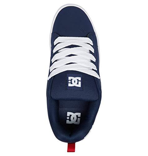 Universe Court Navy Dc Graffik Baskets Homme Bleu Basses Z4RRFqw