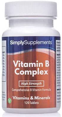 Vitamin B Complex Tablets | Contains All 8 Essential B Vitamins | 120 Tablets | Manufactured in The UK
