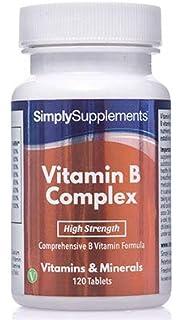 Vitamina B Complex - 120 comprimidos - Hasta 4 meses de suministro - Con Biotina y Ácido Fólico…