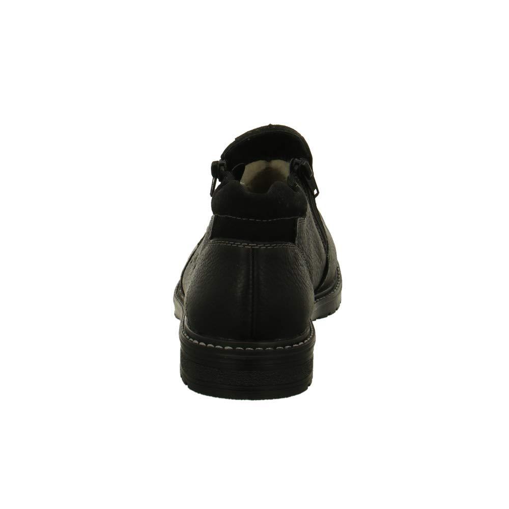 Rieker Damen Stiefeletten B5392-00 WinterStiefel aus gefettetem Glattleder B5392-00 Stiefeletten schwarz 593499 1ebc2e