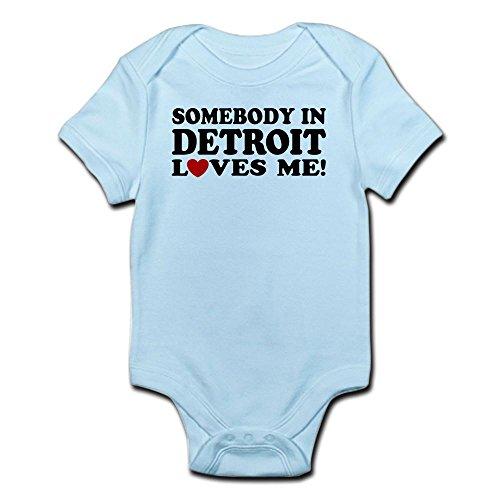CafePress Somebody in Detroit Loves Me Infant Bodysuit Cute Infant Bodysuit Baby Romper