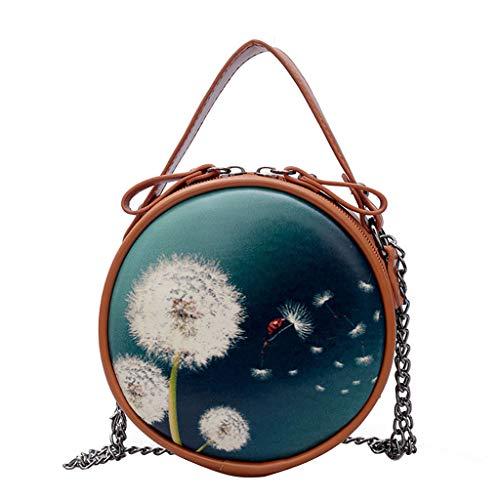Hot Selling!!!♛HYIRI Casual Dandelion Wild Mini Round Bag,Women's wild Messenger bag simple handbag from HYIRI