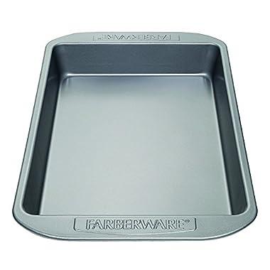 Farberware Nonstick Bakeware 9-Inch x 13-Inch Rectangular Cake Pan, Gray