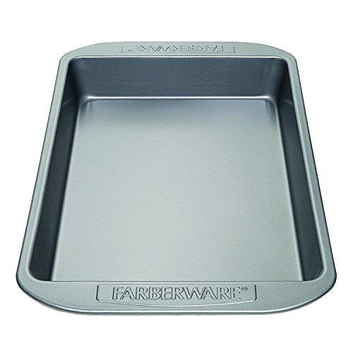 Farberware Nonstick Bakeware 9-Inch x 13-Inch Rectangular Cake Pan, Gray (Farberware Inch Cake 9 Pan)