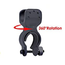 360° Swivel Cycling Bike Flashlight Torch Mount Clip Clamp by MECO