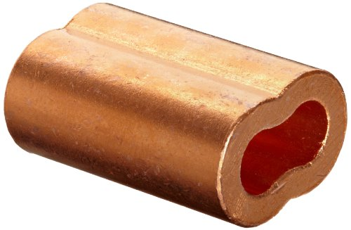 (Loos Cableware SL2-6 10 Piece Plain Copper Duplex Oval Crimping Sleeve Set for 3/16