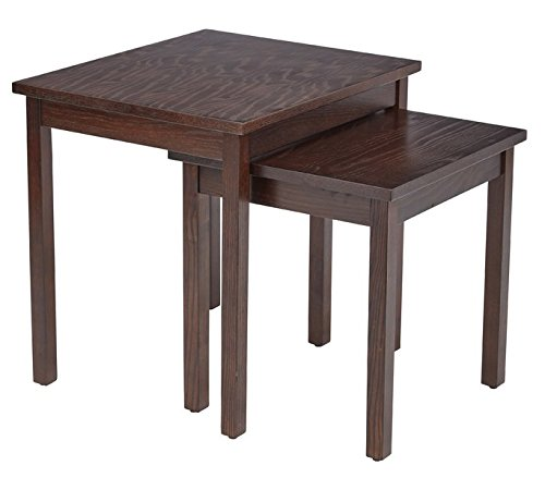 2 Piece Nesting Table Set Table Crafted With Wood Veneer Over a MDF Top Rich Espresso Finish Stylish Solid Wood Legs Made to Match the Most Elegant of Rooms Setups by AVA Furniture