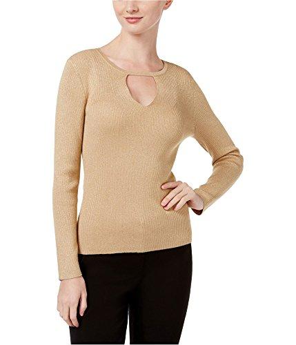 Nylon Metallic Sweater (INC International Concepts Petite Cutout Sweater Gold PXL)