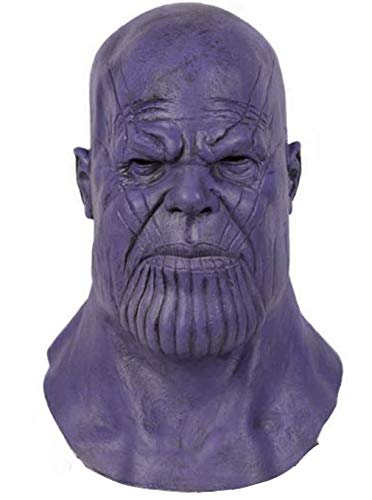 Thanos Mask Headwear Full Head Latex Adult Avengers Teens Halloween Cosplay Costume -