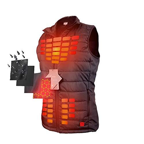 Firefox Heated Vest Casual Lightweight Jacket Heating Clothing Warm Vest Women ()