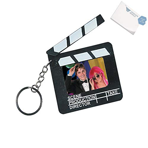 Bargain World Director's Clapboard Picture Frame Keychains (With