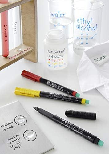 Faber Castell pennarello per CD//DVD Marker permanente punta sottile inchiostro nero confezione da 10