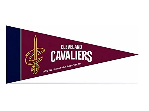 Zipperstop 8 Pack Officially Licensed NBA Cavaliers Mini Pennants, 4'' x 9'' by Zipperstop