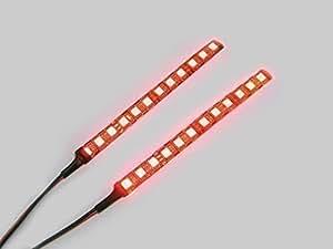 Super Brillantes Adhesivo Auxiliar LED Luz De Freno / Trasero Luz Antiniebla Tiras para motocicletas y Coches