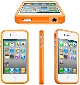 iPhone 4 4S Bumper Silikon Handy Schutzhülle TPU Orange