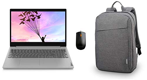 Lenovo IdeaPad Slim 3 AMD 3020e 15.6″ HD Thin & Light Laptop (4GB/1TB HDD/Win10/Integrated AMD Radeon Graphics/1.85Kg) + Lenovo Laptop Backpack B210 15.6″ Water Repellent Grey + 300 Wired USB Mouse