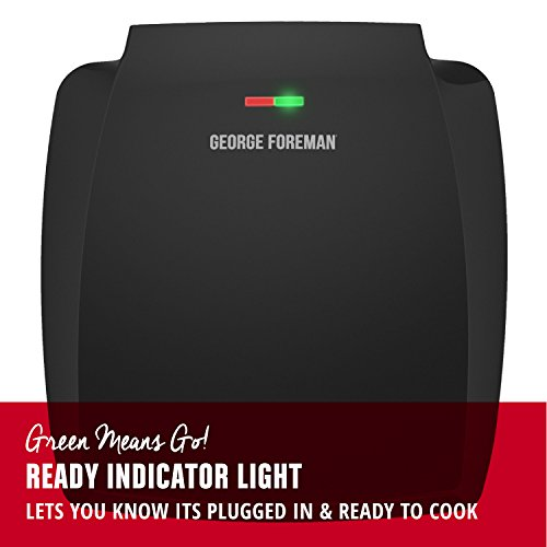 George Foreman 8-Serving Classic Plate Grill and Panini Press, Black, GR380FB by George Foreman (Image #2)