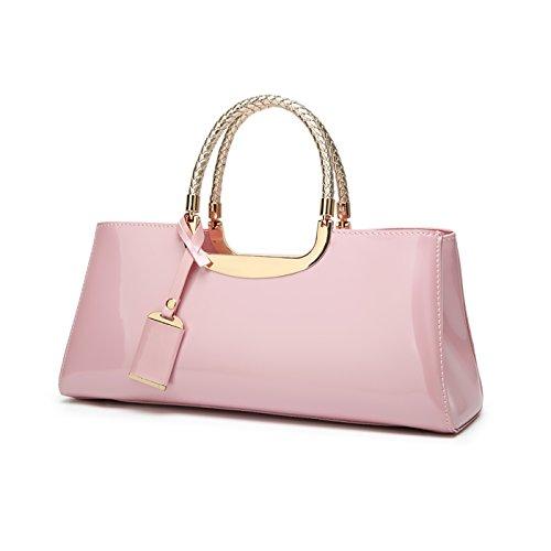 bag handbag Pink ladies wild ladies wallet shoulder 2017 casual Tisdaini Messenger glossy patent leather fashion atmosphere wvBnHqaE