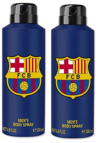 FC Barcelona Blue Combo Pack Of 2 Deodorant Spray - For Men 2021 August adds freshness ensures a long-term feeling of freshness protects against unpleasant odours