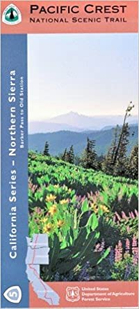 Pacific Crest Trail Northern Sierra Hiking Map Us Forest Service