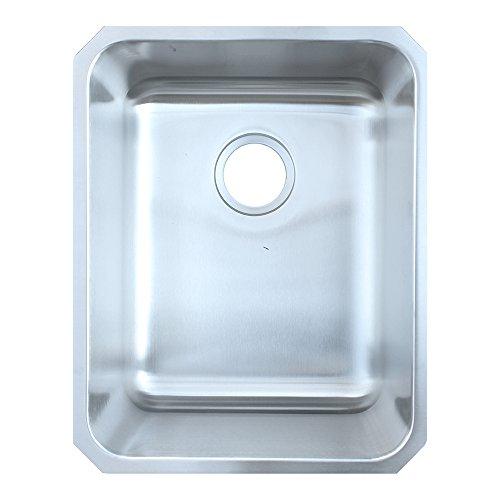 Lustertone Undermount Bar Sink (Elkay ELU1418 Gourmet Lustertone Undermount Sink, Stainless)