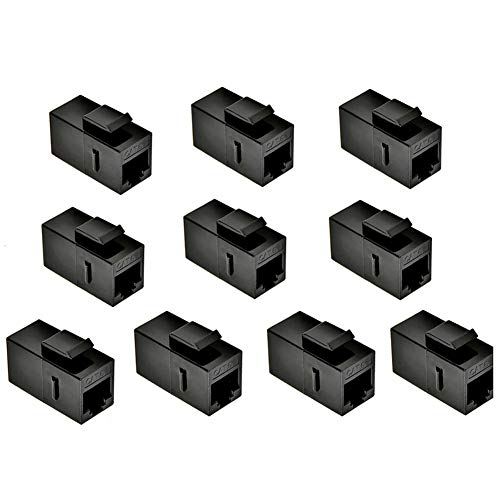 - MOERISICAL EM1 EM1ZT-10P CAT6 Keystone Jack, 10 Piece, Straight Unshielded