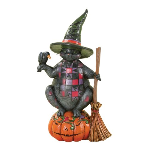 Enesco 4027794 Jim Shore Heartwood Creek Halloween Cat Figurine, 7-3/4-Inch -