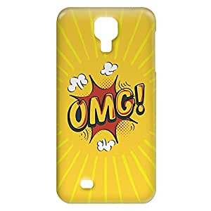 Loud Universe Samsung Galaxy S4 OMG Print 3D Wrap Around Case - Yellow/Red