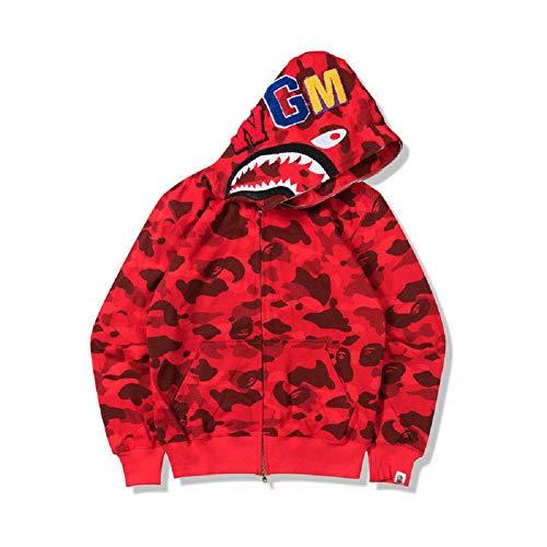 588fefe0438 New Bathing Ape Bape Shark Jaw Camo Full Zipper Hoodie Men s Sweats Coat  Jacket. by griffith nancy