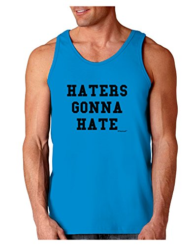 TooLoud Haters Gonna Hate Loose Tank Top - Sapphire - Small