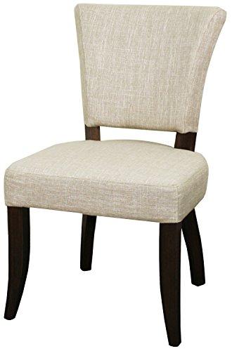 98235-RI-DB Austin Side Chair,Set of 2 Furniture Rice Beige ()