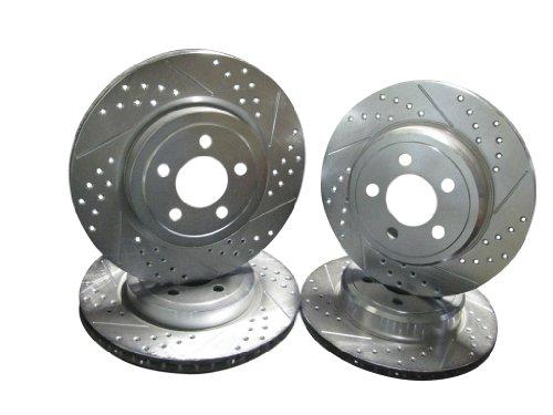 2006-2013 Dodge Charger Daytona R/T Front & Rear Brake Disc Rotors +Hawk HPS Pads