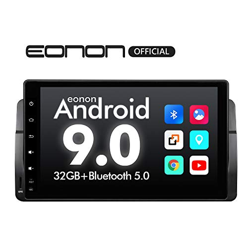Car Stereo Car Radio, Eonon 9 Inch Android 9.0 Car Radio, Bluetooth 5.0 GPS Navigation for Car Support Apple Carplay Android Auto/Bluetooth/WiFi/Fast Boot/DVR/Backup Camera/OBDII-GA9350B (Bmw Professional Radio)