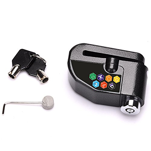 GEZICHTA Candado de Freno de Disco, antirrobo para Disco de Motocicleta, Alarma de 110 dB con Cable de recordatorio DE 1,5 m...