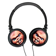 Chucky Doll Custom Ear Lightweight Foldable Noise Reduction Stereo Portable Music Gaming Headset