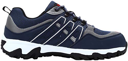LARNMERN Men's Work Steel Toe Safety Shoes for Industrial Construction Utility Outdoors, LM-1032 (12, Blue/White) by LARNMERN (Image #5)