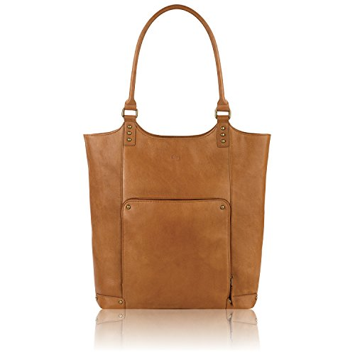 (Solo Vestry 15.6 Inch Laptop Bucket Tote, Tan)