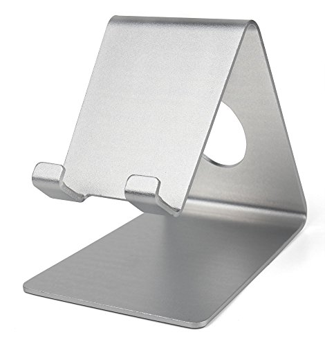 Ultra-Contemporary Metal Smartphone Stand in Silver Aluminium - - Compatible with the Jolla C - by - Shops In Jolla La
