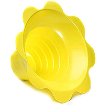 4 OZ Small Shaved Ice Sno Cone Flower Cups 1000 Count Yellow