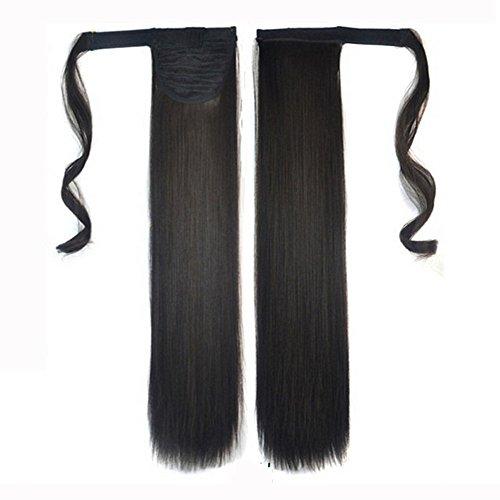 Sacow Hair Extension Straight Pony Tail Wrap Around Ponytail (H)