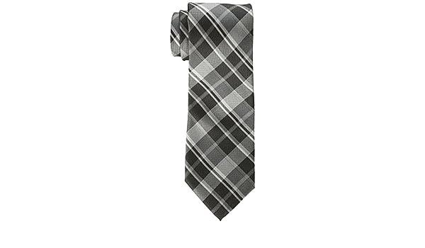 Calvin Klein Corbata de cuadros para hombre - Negro - X-largo ...