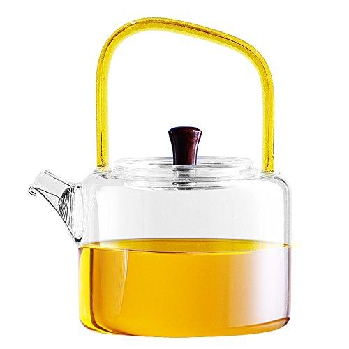 Ceramic Story Borosilicate Glass Tea Pots, Tea Kettles, Stov