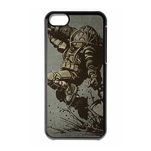 Bioshock 2 Funda iPhone 5C Funda caja del teléfono celular Negro Y1O1VZXP funda protectora personalizada