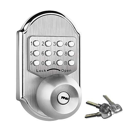 Elemake Stainless Steel 304 keyless Entry Door Lock deadbolt Keypad Mechanical Digital Combination Double Security (Pass Code Or Keys)