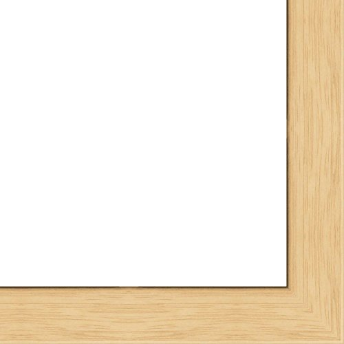 13x19 - 13 x 19 Natural Oak Flat Solid Wood Frame with UV Framer's Acrylic & Foam Board Backing - Great For a Photo, Poster, Painting, Document, or (Natural Oak Wood)