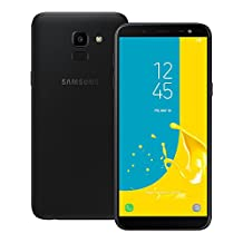 "Samsung Galaxy J6 (2018) J600G/DS 32GB y 2GB en RAM 5.6"" 4G Lte Dual Sim 13MP Libre de Fabrica, Sensor de Huella Version Internacional, Negro"