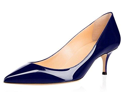 Blu col Donna Scarpe Scarpe Classiche 1 5CM ELASHE Gattino da tacco Tacco 6 Scarpe v1wEqxHaO